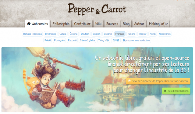 BD « Pepper et Carrot »