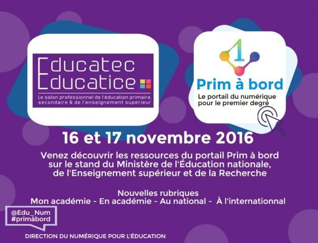 Prim à bord au salon Educatice